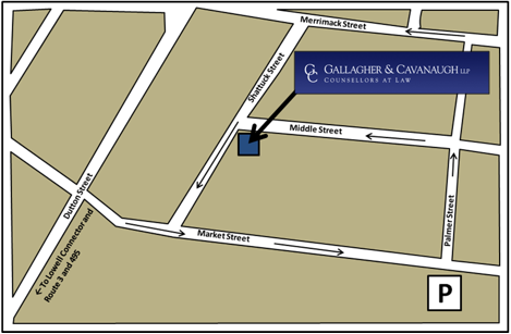 Directions to GALLAGHER & CAVANAUGH LLP Counsellors at Law